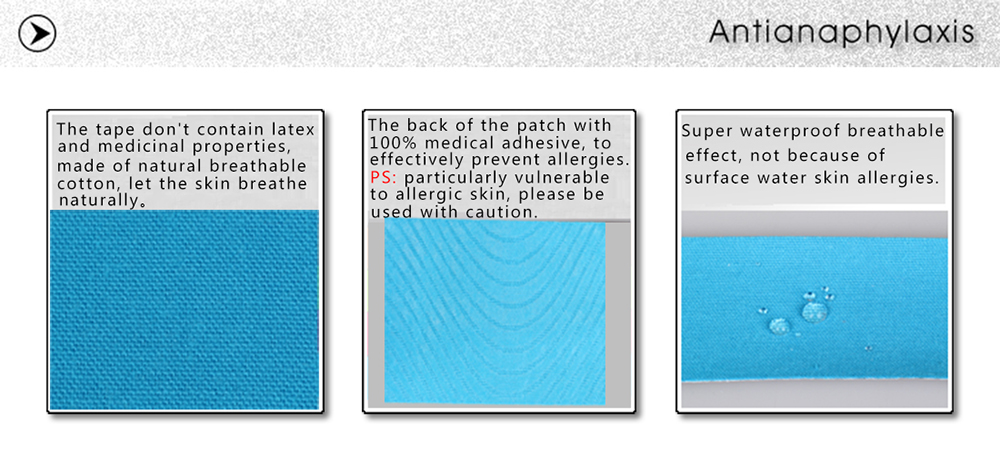 Mumian 5M Kinesiology Tape Cotton Elastic Adhesive Muscle Sports Roll Care Bandage Support- Sky Blue