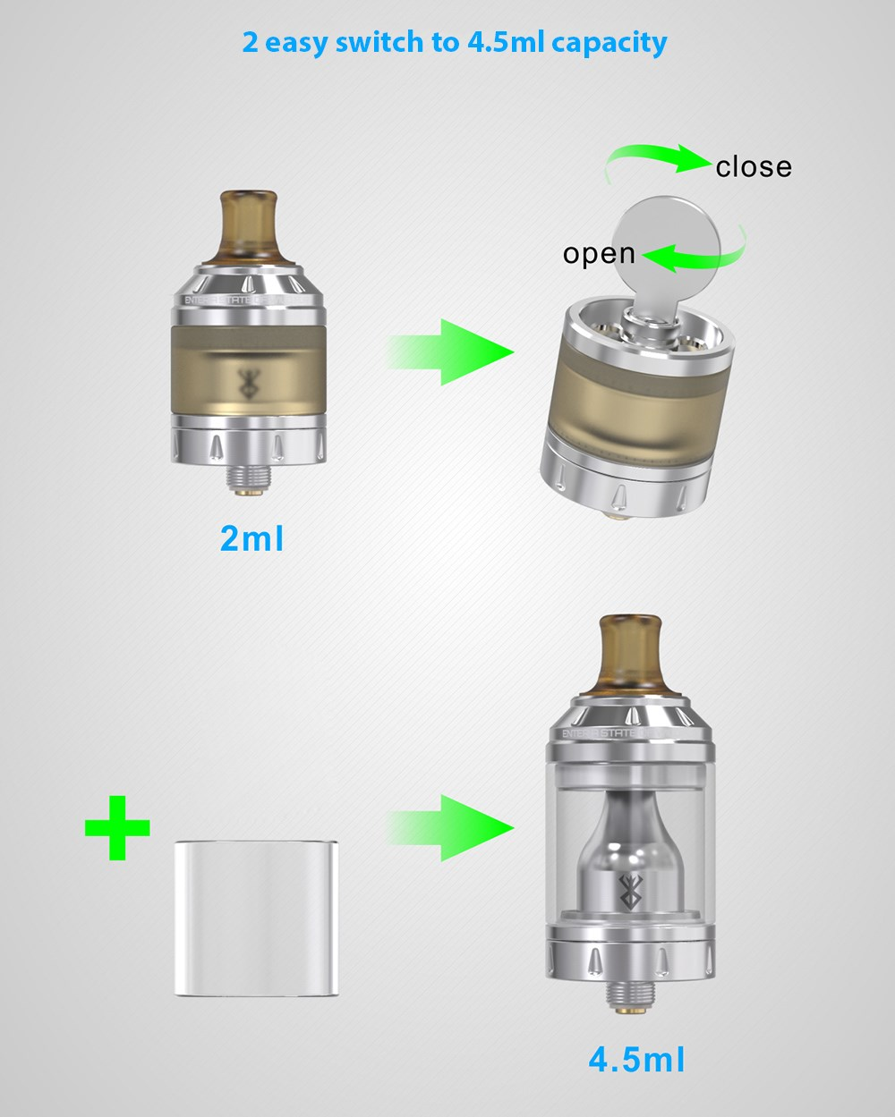 Original Vandyvape Berserker MTL RTA with 2ml / 4.5ml / Top Filling for E Cigarette