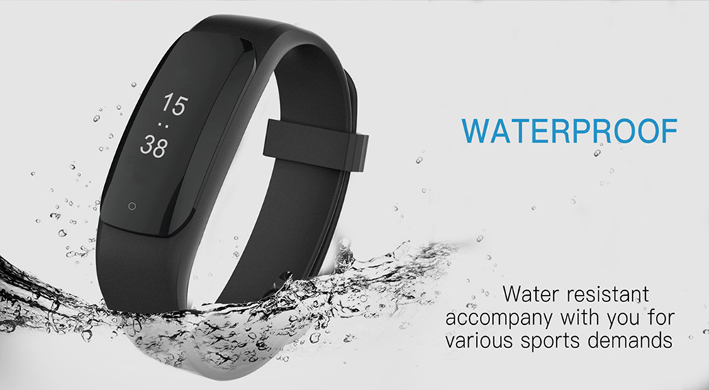 MPOW D6 Bluetooth 4.2 NRF52832 Chip USB Plug Sleep / Heart Rate Monitor Smart Bracelet for Android Phones