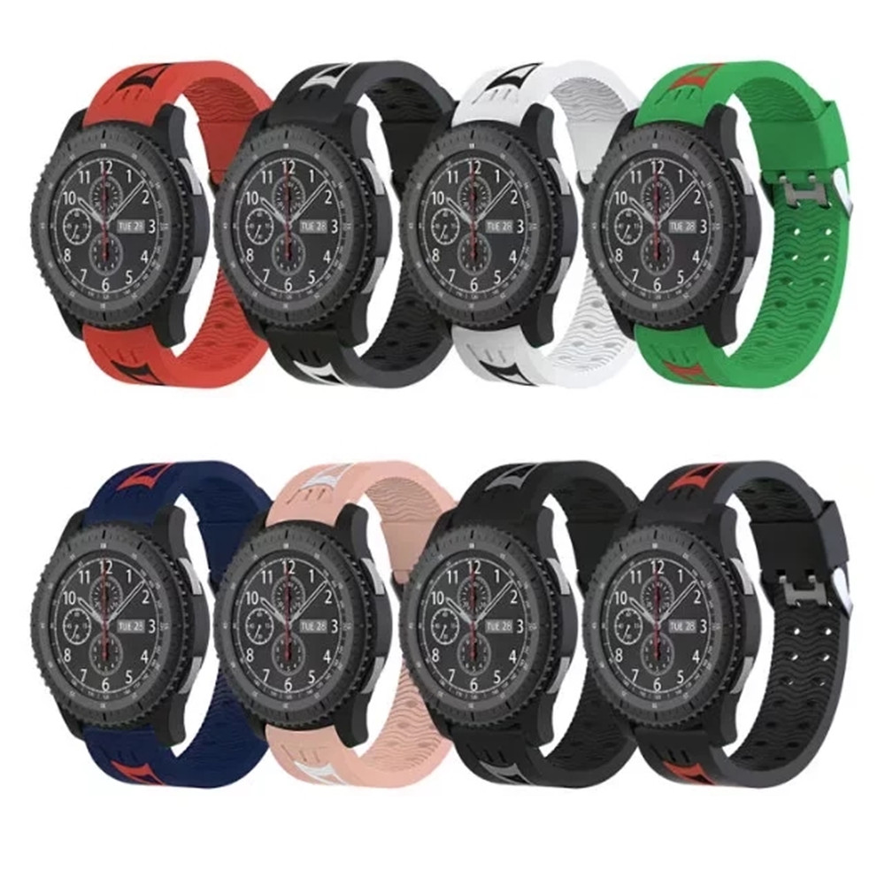 Smiling Face  Silicone Sport Wrist Strap Band For Samsung Gear S3 Classic / Frontier