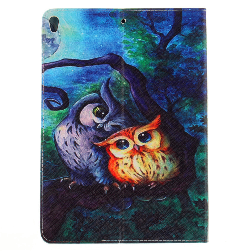 Oil Painting PU+TPU Leather Wallet Cover Design with Stand and Card Slots Magnetic Closure Case for iPad Pro 10.5 Inch