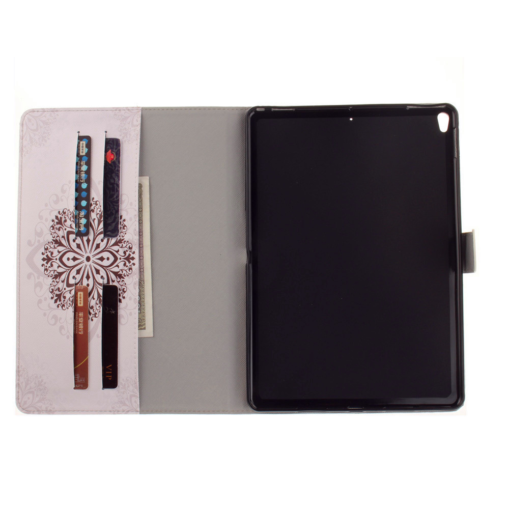 Mandragora PU+TPU Leather Wallet Cover Design with Stand and Card Slots Magnetic Closure Case for iPad Pro 10.5 Inch