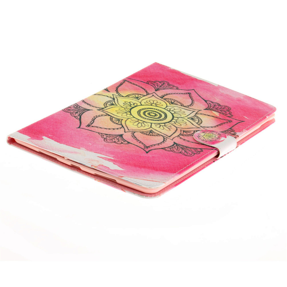 Large Pink PU+TPU Leather Wallet Cover Design with Stand and Card Slots Magnetic Closure Case for iPad Pro 10.5 Inch