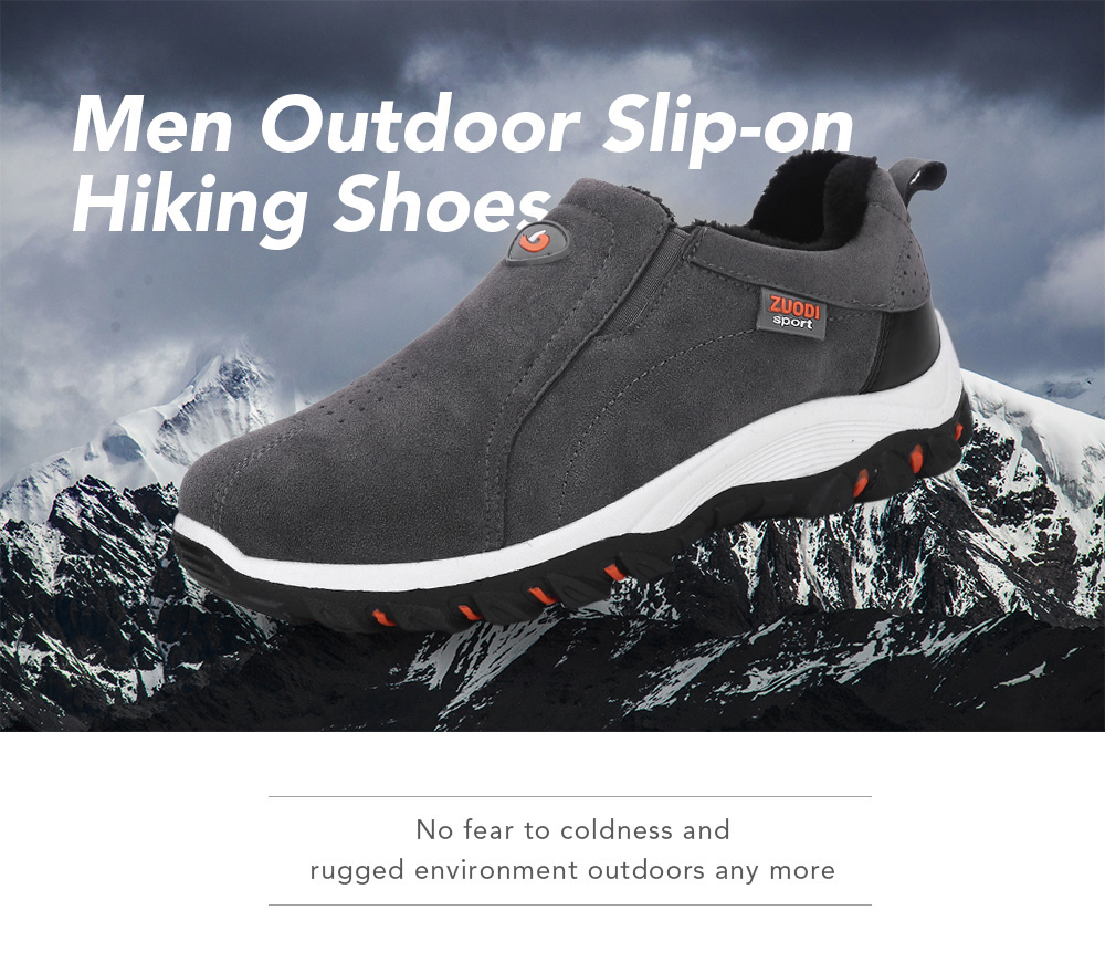 Men Plus Size Outdoor Slip-on Hiking Shoes
