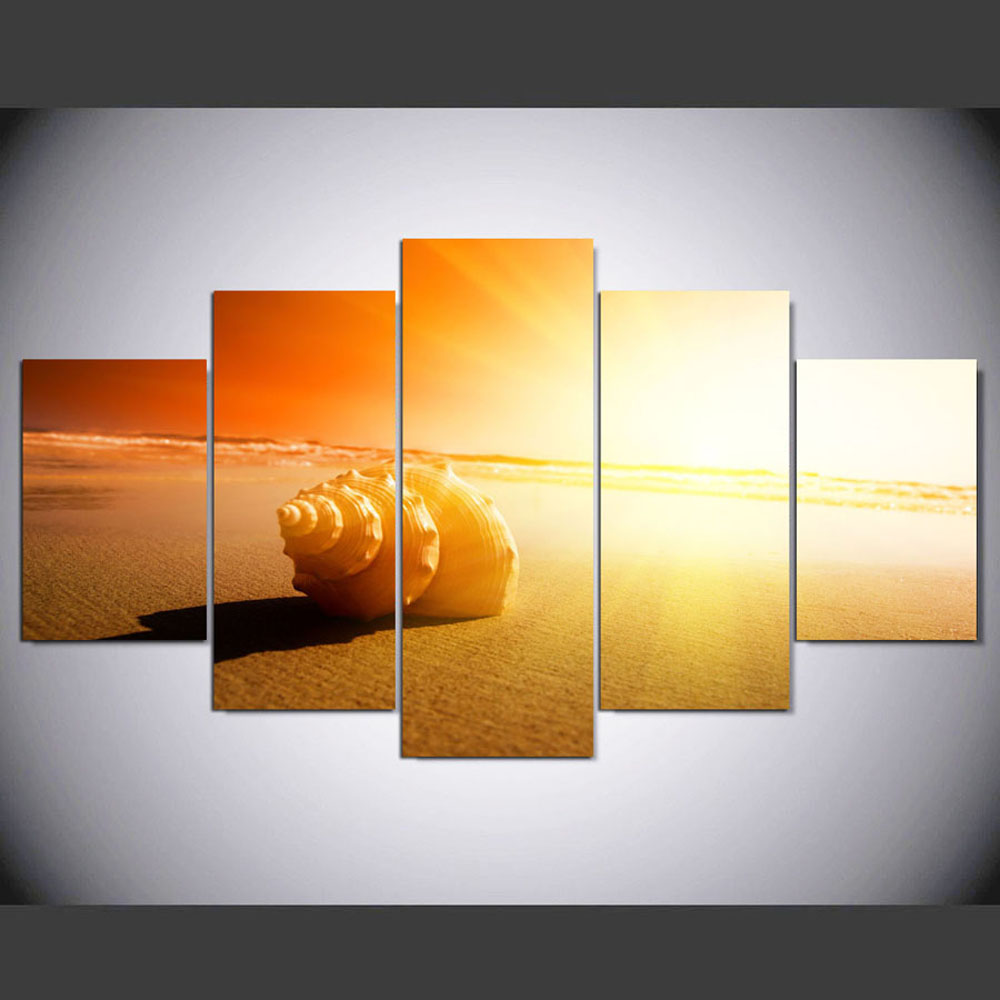 YSDAFEN Canvas Wall Art Painting Hot Sale African Shining Beach ...
