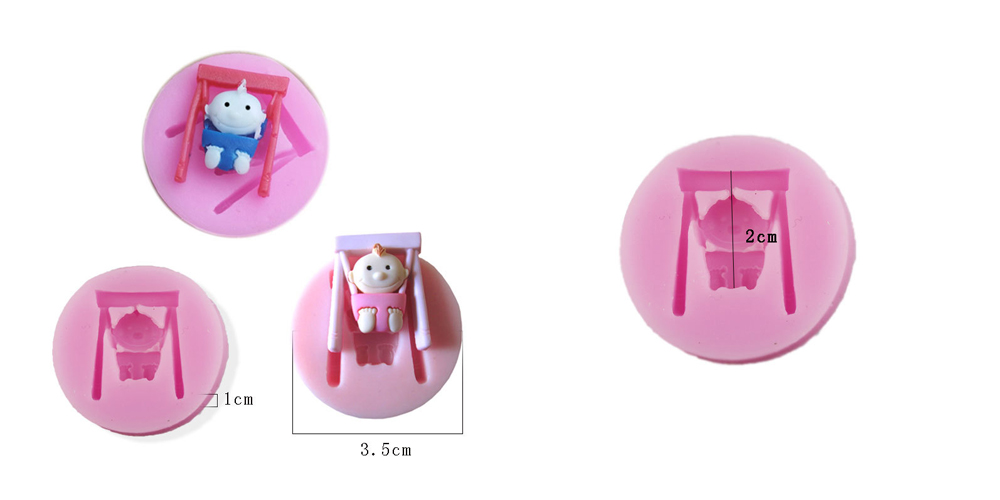 Fondant Cake Jelly Pudding Chocolate Silicone Mold Little Baby Pattern- Pink