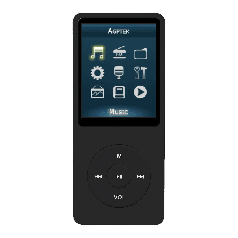 8GB MP3 Player 70 Hours Playback Lossless Sound Music Player (Supports up to 32GB)