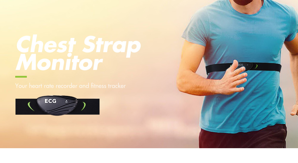 Chest Strap ECG Heart Rate Monitor Portable Fitness Tracker