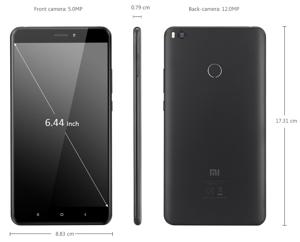 Xiaomi Mi Max 2 4g Phablet 33233 Free Shipping 2s 644 Inch Android 70 Snapdragon 625 Octa Core 20ghz
