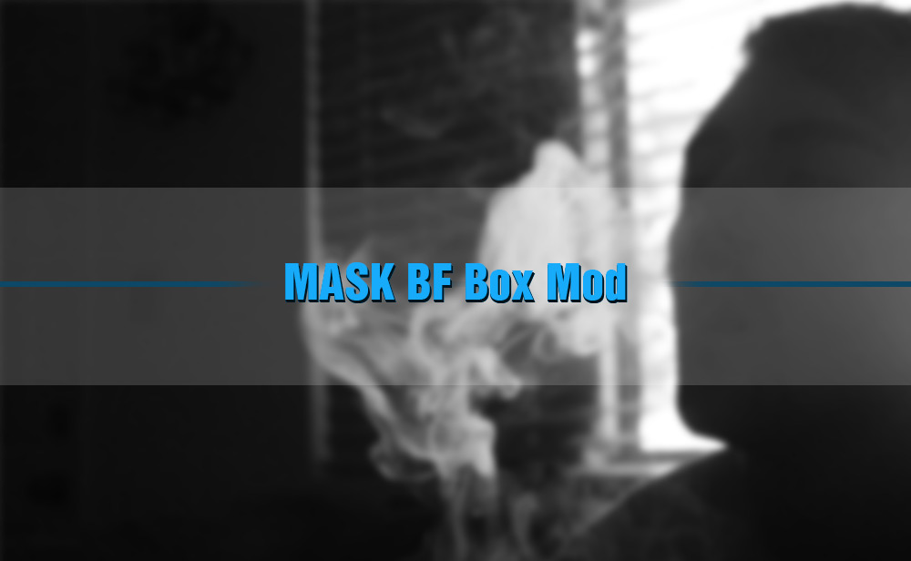MASK BF Box Mod Supporting 1pc 18650 / 20700 / 21700 Battery for E Cigarette