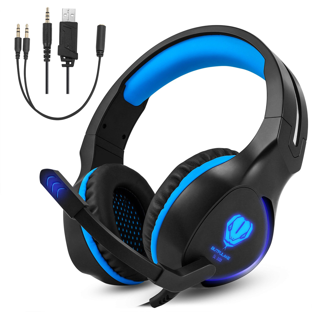 SL 100  3.5mm LED Light Gaming Headset with Mic