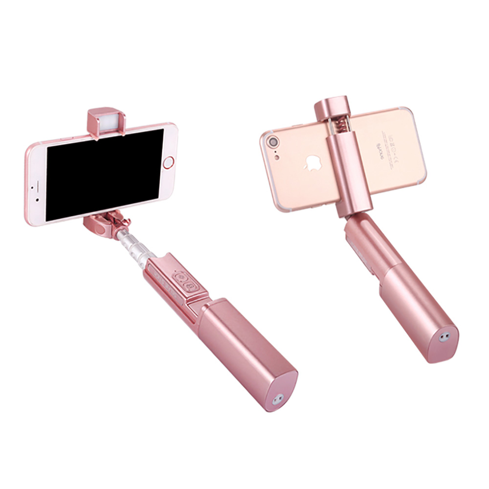 Selfie Stick Extendable Monopod Band Led Fill in Light and Bluetooth Shutter Remote for IPhone Samsung Other Android
