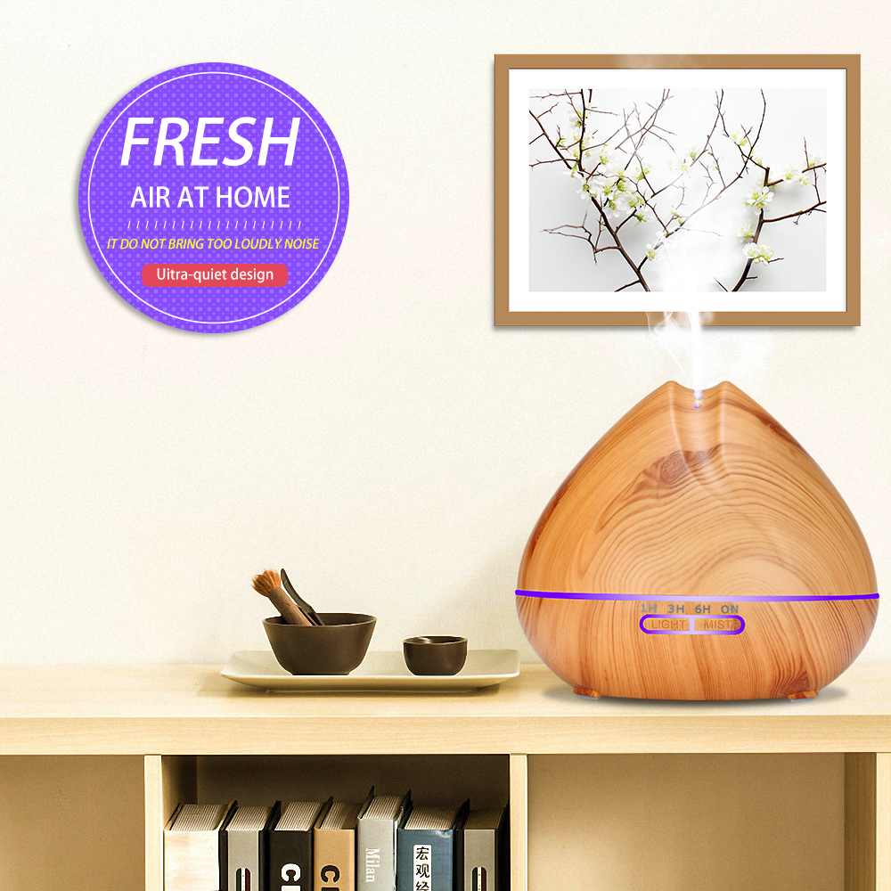 GDAS 1806YK  Essential Oil Diffuser Humidifier Aromatherapy Cool Mist Humidifier 550ML- Wood