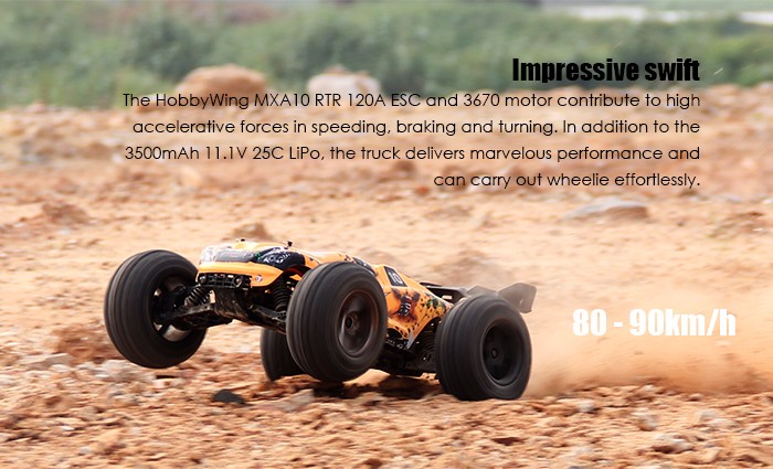VKAR RACING BISON V2 1:10 80 - 90km/h 2.4GHz 2CH 4WD Waterproof Brushless RC Truck - RTR