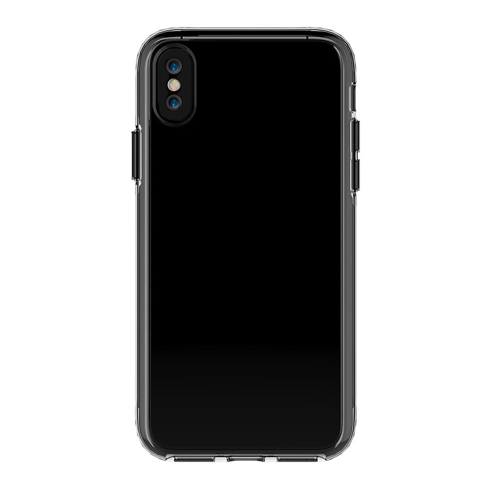 For iPhone X Case Shockproof Transparent Back Cover Solid Color Hard TPU