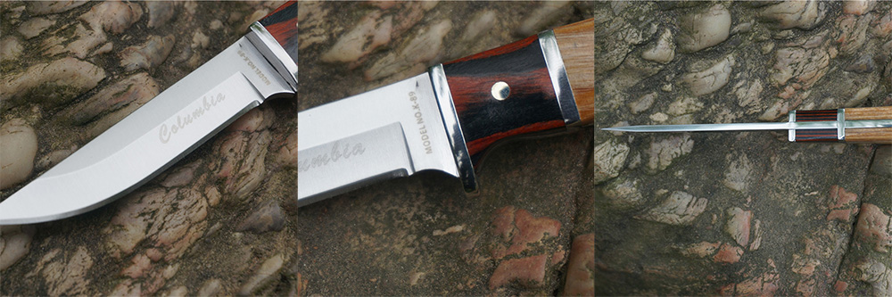 SANJIA K89 Outdoor Multifunctional Knife with 3Cr13Mov Stainless Steel Straight Fixed Blade
