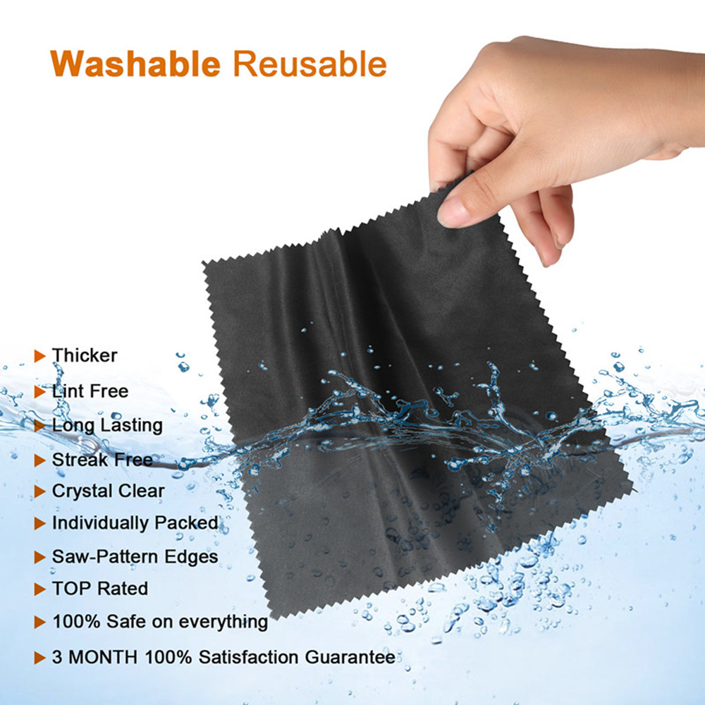 Microfibers Cleaning Cloths Kiirie 7 Pack Ultra Gentle Cloths Suitable for Eyeglasses Camera Lens iPad Tablets Cell Phones  LCD Screens and Other Delicate Surfaces