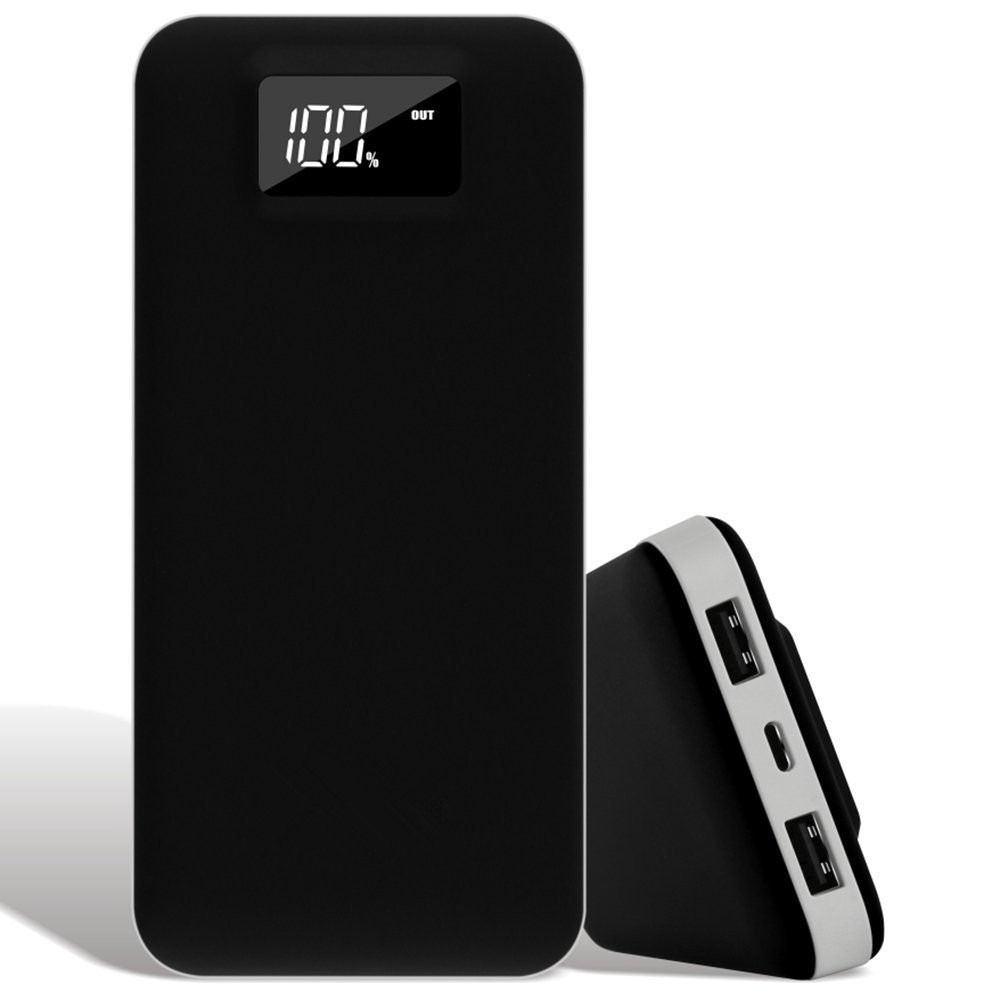 20000mAh Power Bank Lightning and Micro Input LED Digital Display Portable Charger