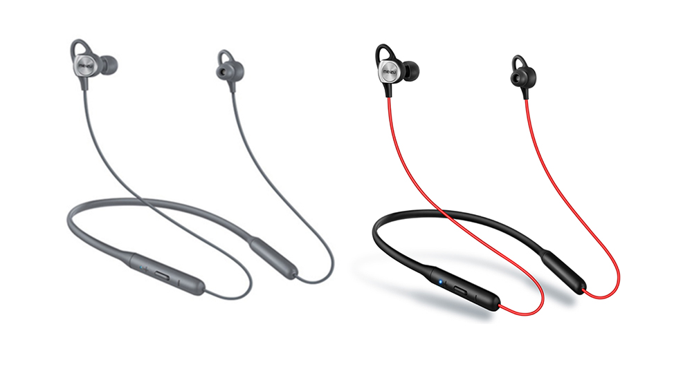 MEIZU EP52 Magnetic Neckband Waterproof Bluetooth Sports Earbuds with Mic- Black and red