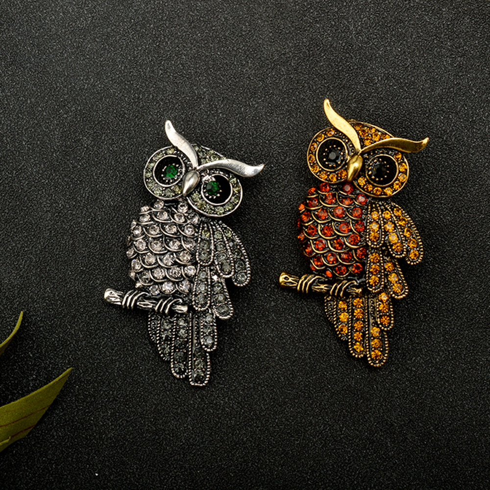 Retro Brooch Owl Clothing Accessories Hot Pin Charming Chic High-Grade Unisex Individuality Gift Hot Sale
