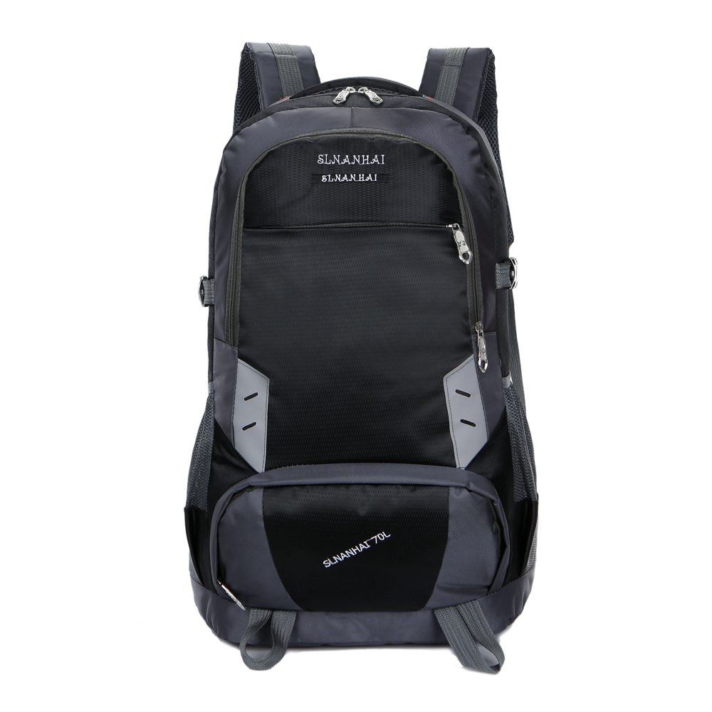 Outdoor Mountaineer Bag Double Shoulder Backpack Sports Backpack 70L Dark Blue