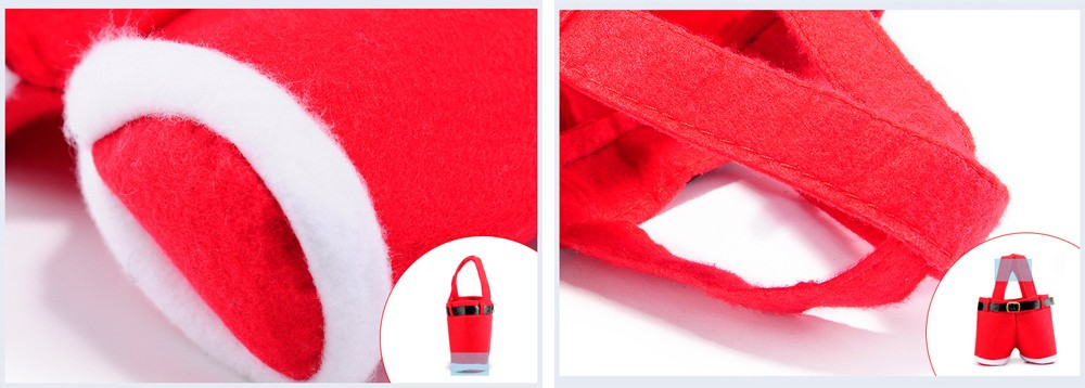 Creative Santa Claus Strap Pants Candy Bag 2PCS