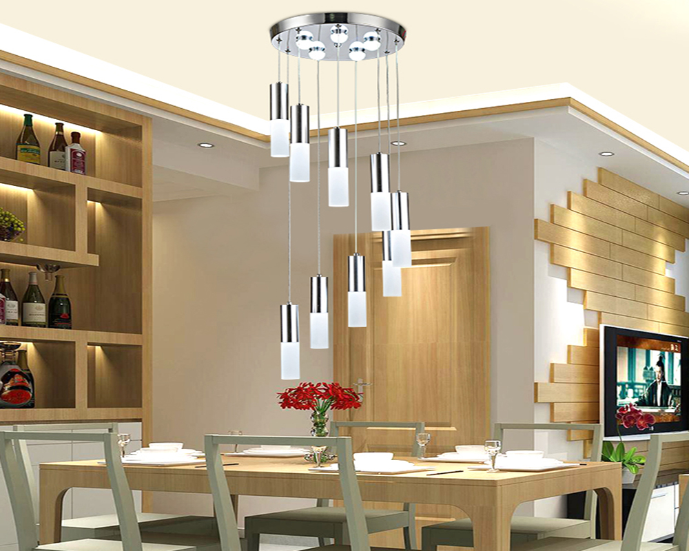 Restaurant Droplight with Three Modern Villa Creative Lamp Hanging Lamp Act The Role Ofing Dining Room Bar