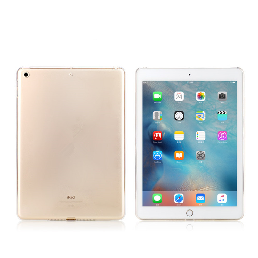 For iPad Air 2 Tablet Shell TPU Transparent Jelly Soft Case