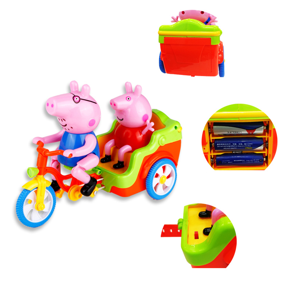 Pig Style Tricycle with Sound / Light Intelligence Toy for Kids