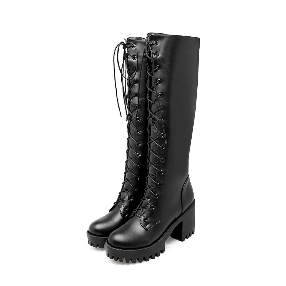 Miss Shoes 88-7 Casual Thick and Heavy Base with Knighthood