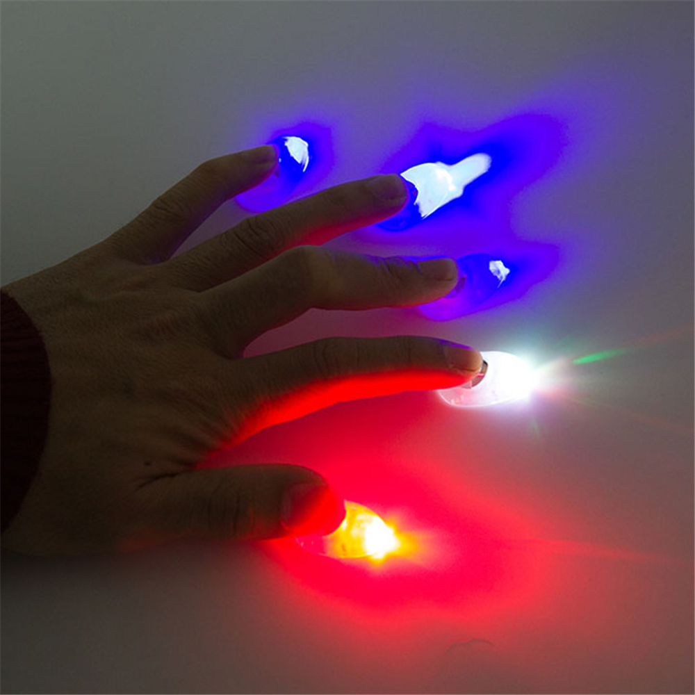 5 Pcs Light Up Thumb Fingers Trick  Magic Props Prosthetic Toys