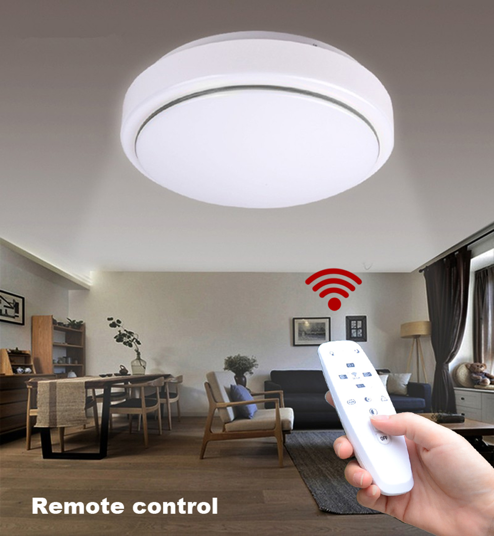 Led ceiling light remote online deals gearbest 13 off jiawen led ceiling light with 24g rf remote controller mozeypictures