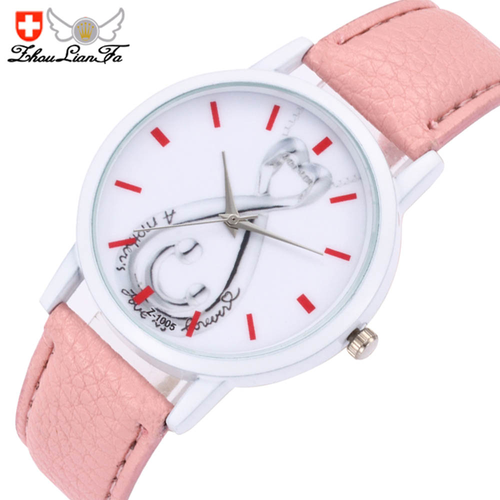 ZhouLianFa Simple Student Ladies Fashion Luxury Leather Leisure Quartz Watch