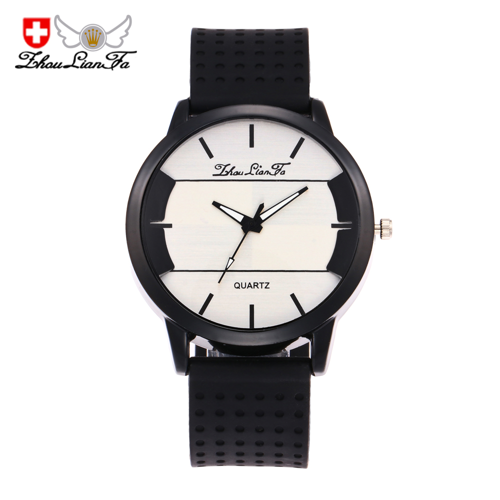 ZhouLianFa Brand Thin Sports and Leisure Silicone Fashion Quartz Watch