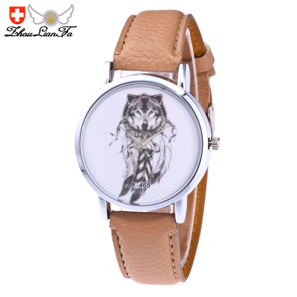 ZhouLianFa Trends Fashion Womens Belt Wolf Figure Quartz Women'S Watch