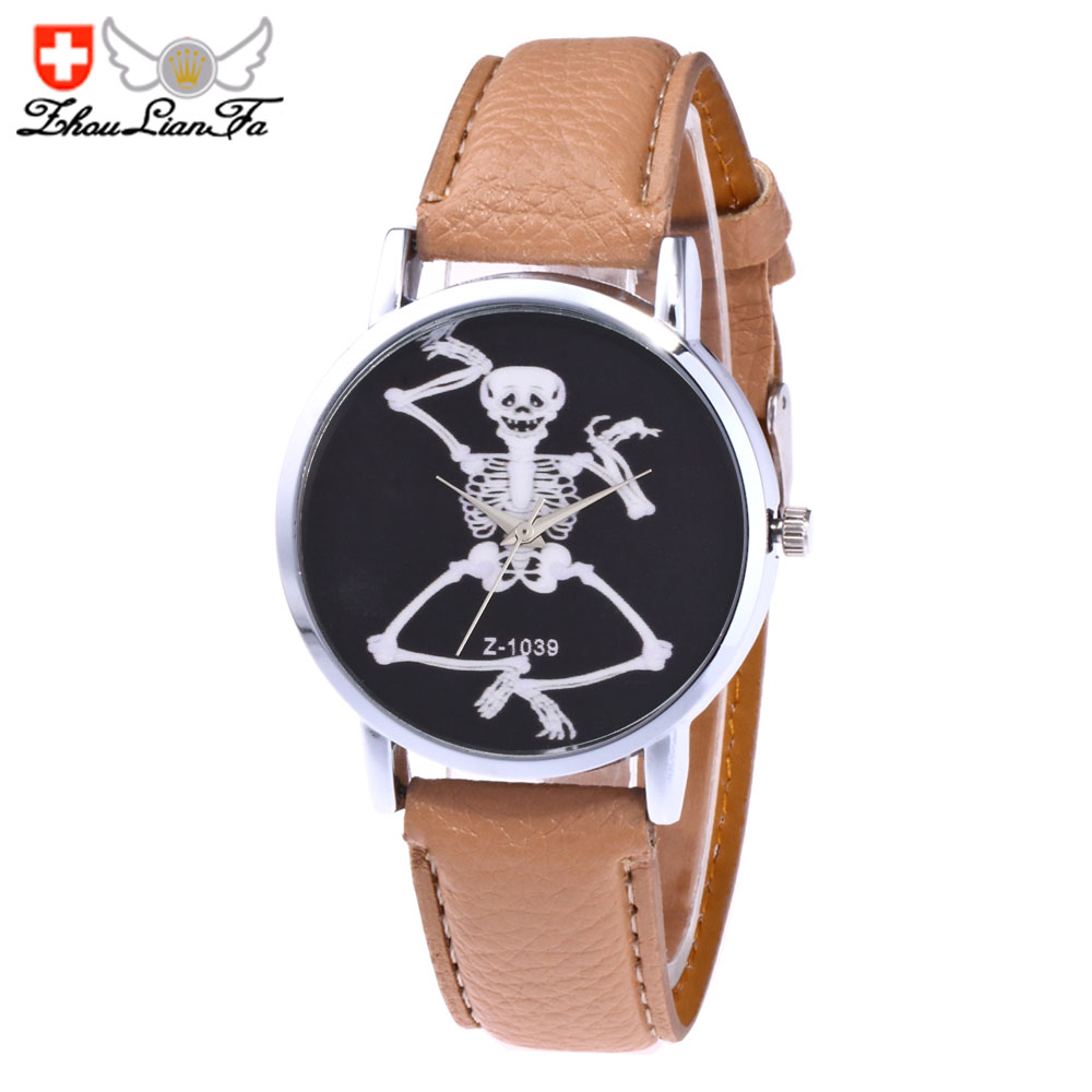 ZhouLianFa Casual Fashion Leather Strap Ladies Vintage Business Quartz Watch