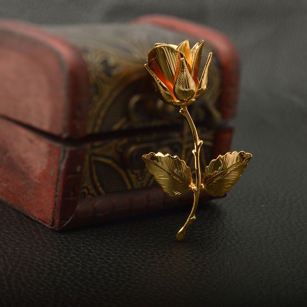 Vintage Rose Brooches for Women Elegant Brooches & Pins High Quality Fashion Jewelry Copper Brooch