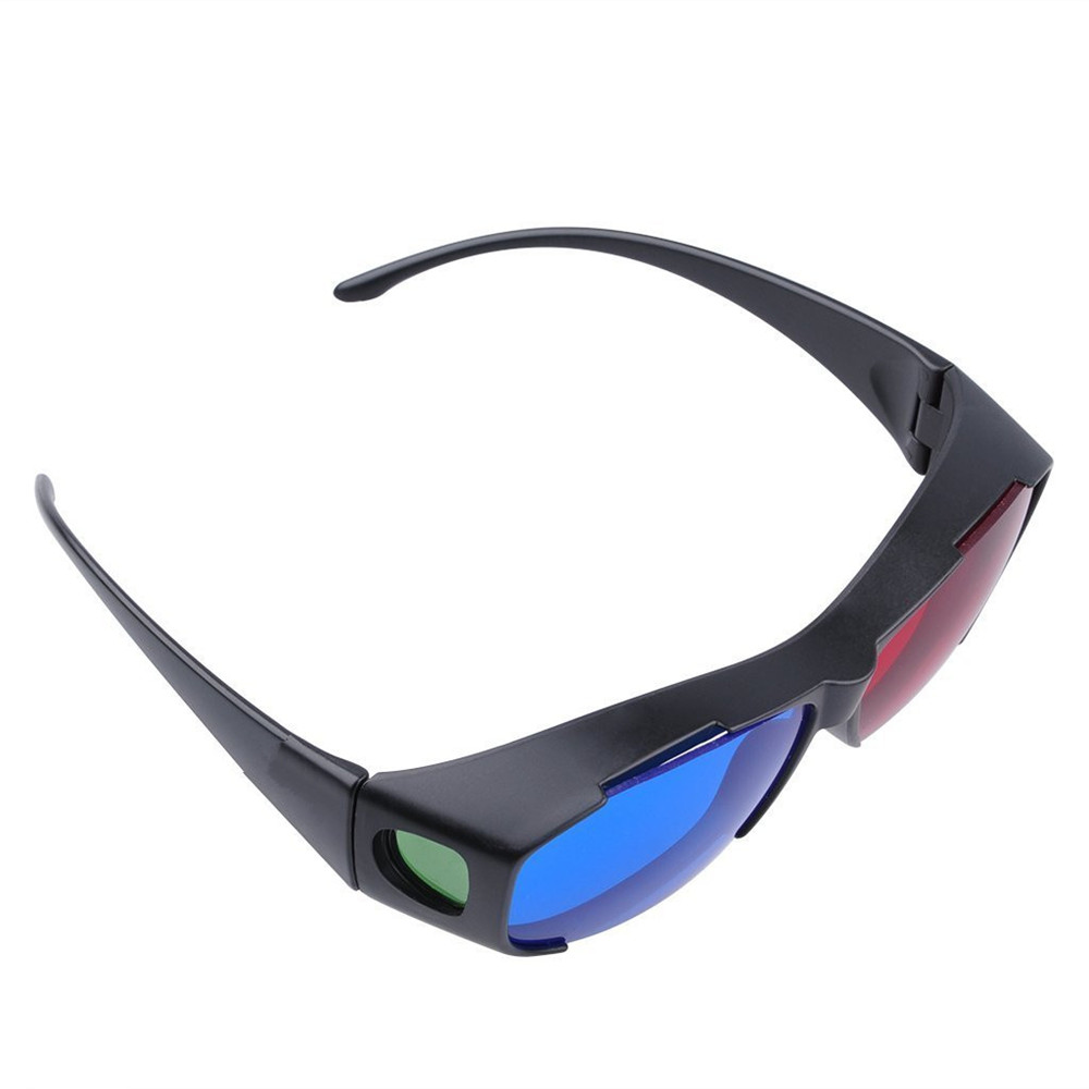 dae3ba6a40 Red Blue 3D Glasses   Cyan Anaglyph Simple 3D Movie Game Extra Upgrade Style-  Blue