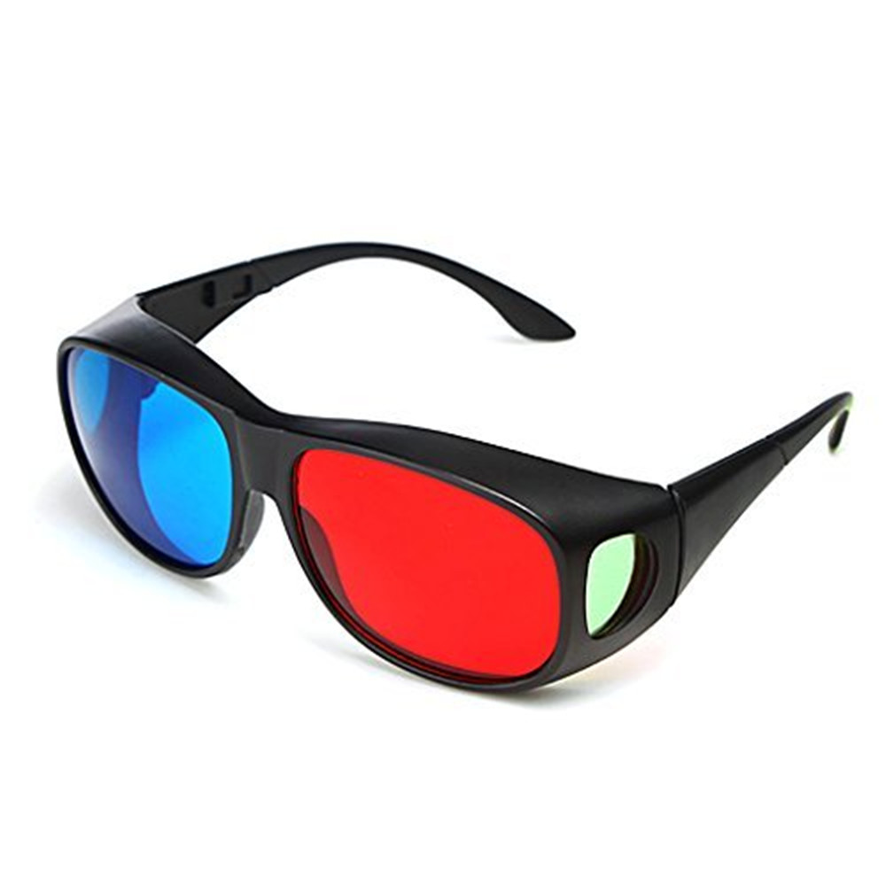 Red Blue 3D Glasses / Cyan Anaglyph Simple 3D Movie Game