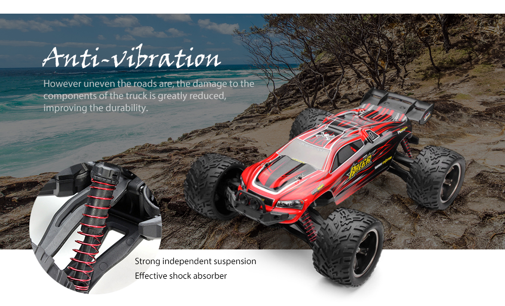 9116 1/12 Scale 2WD 2.4G 4CH RC Monster Truck Review And Coupon Code