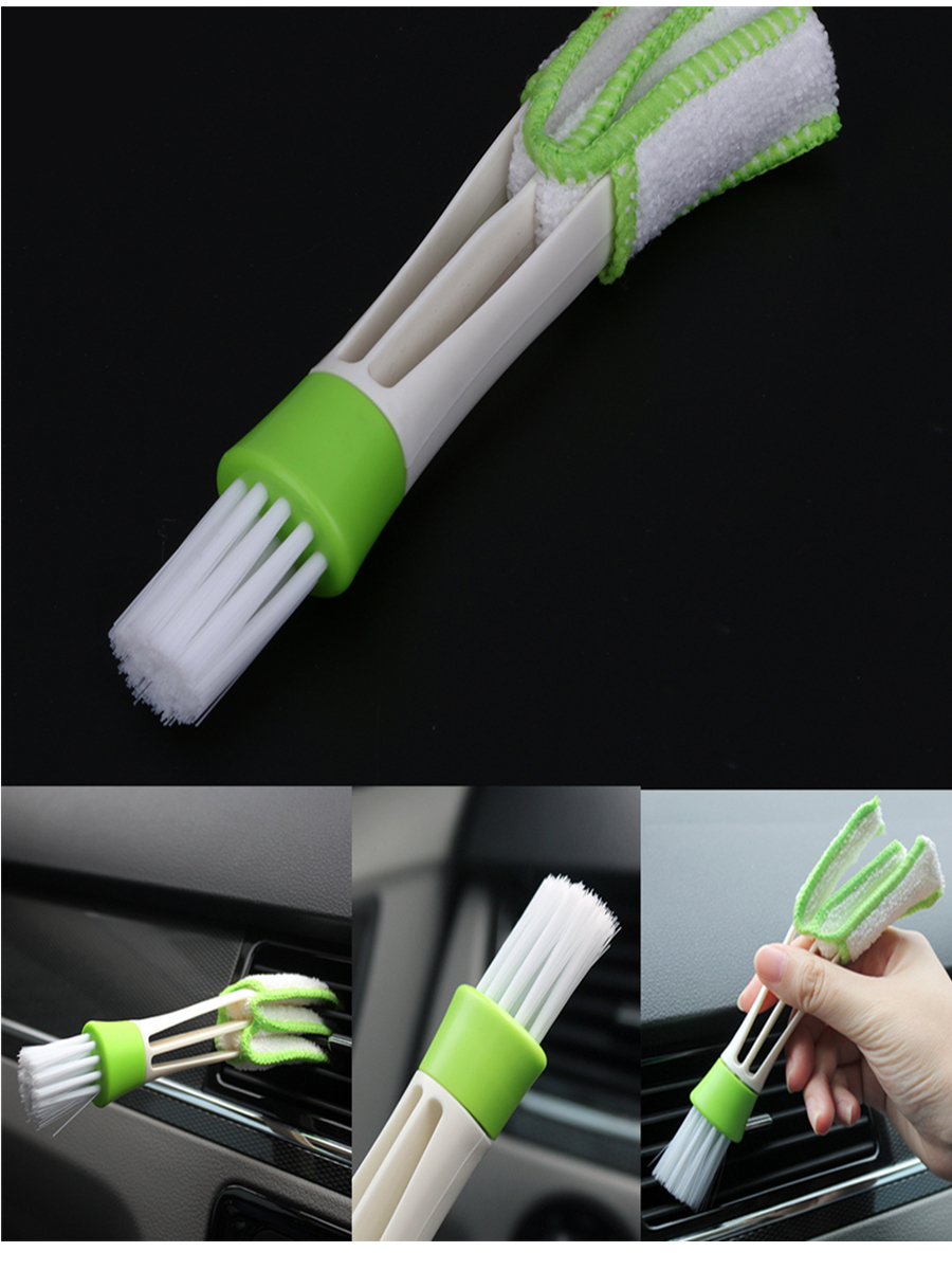 Car Air Vent Slit Cleaner Brush Dusting Blinds Portable Durable Cleaning Brush