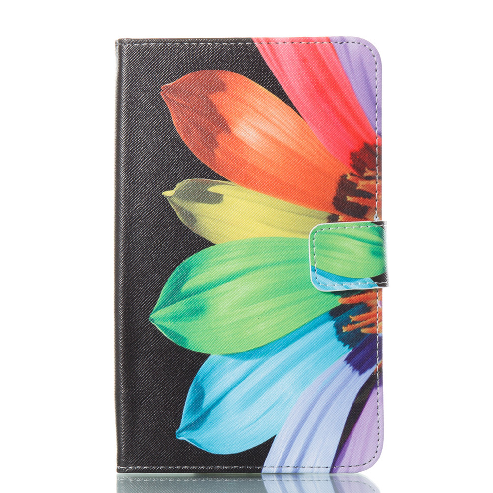 Sunflowers Ultrathin Luxury Genuine Leather Case for Samsung Galaxy Tab A A6 7.0 Inch T280 T285 SM-T280 -T285 Cover Case