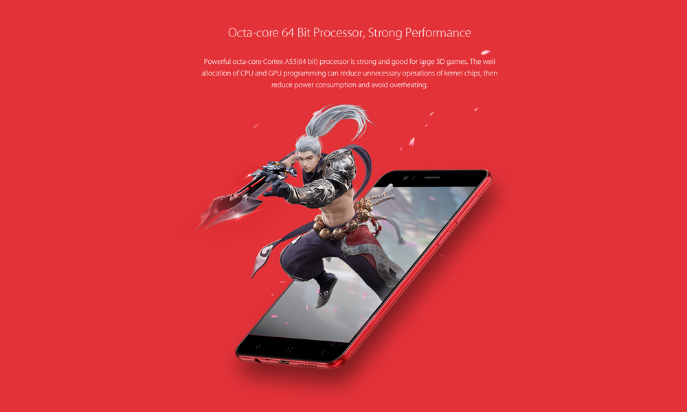 Elephone P8 3D 4G Phablet Android 7.0 5.5 inch MT6750T Octa Core 4GB RAM 64GB ROM 13.0MP + 2.0MP Dual Back Cameras Rear Fingerprint Scanner