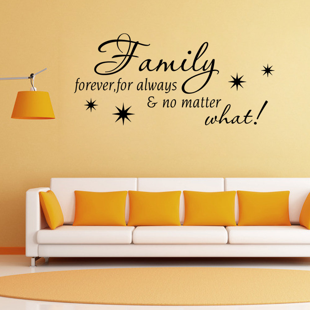 Home Love Resides Family Quotes Wall Sticker Home Decoration Vinyl ...