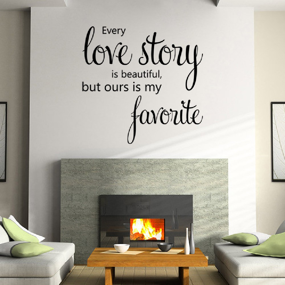 Dsu home decoration love story wall sticker house decor romantic dsu home decoration love story wall sticker house decor romantic english words amipublicfo Choice Image