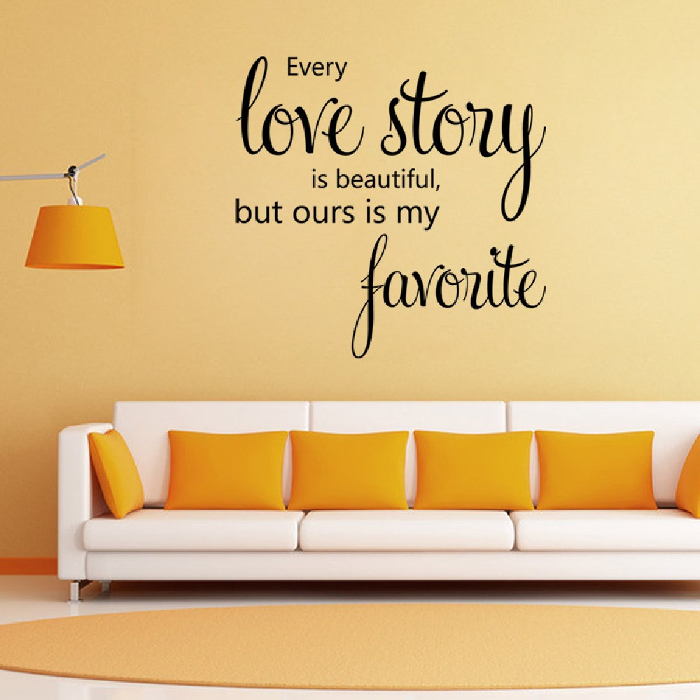 DSU Home Decoration Love Story Wall Sticker House Decor Romantic ...