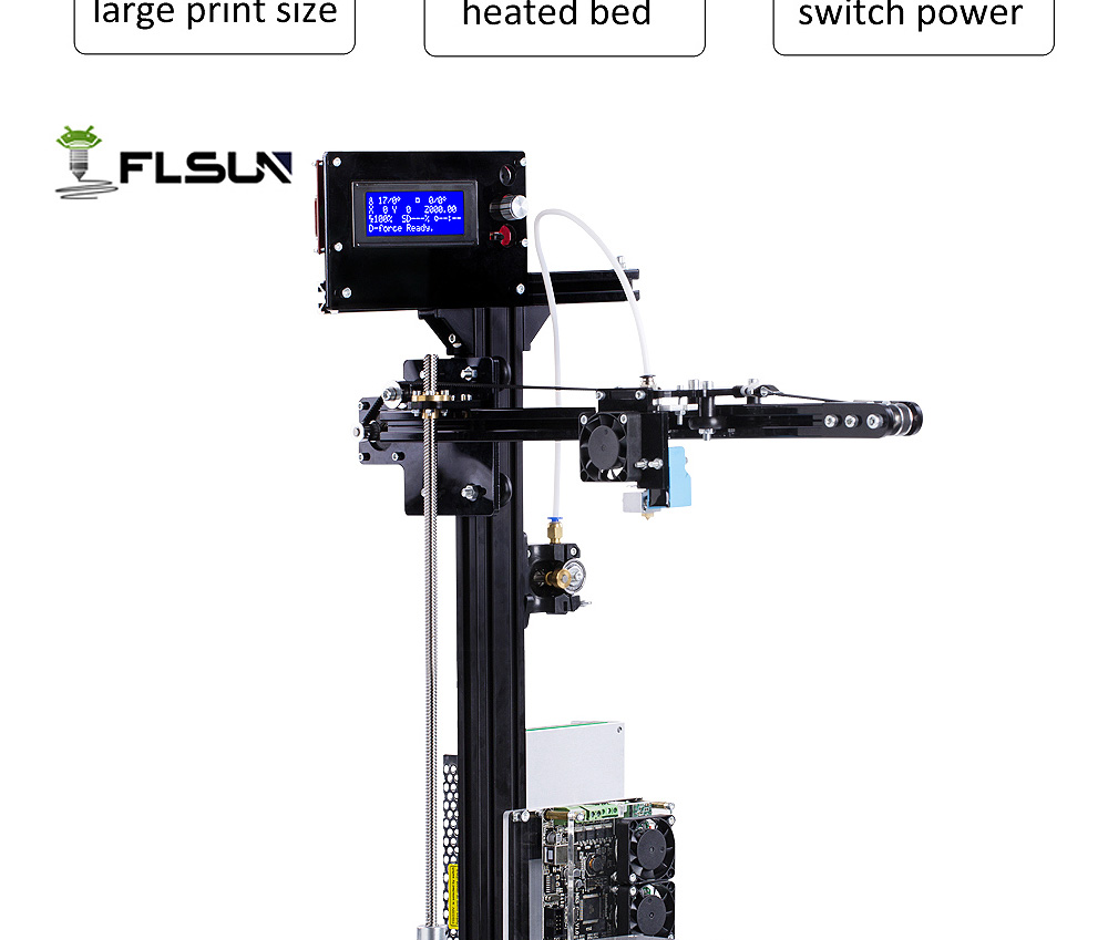 Flsun Large Printing Size 200*200*260mm 3D Printer Kit Auto-leveling Heated Bed