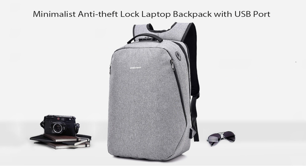 a6feaae3eac Leisure Anti-theft Lock Laptop Backpack with USB Port -  27.72 Free ...