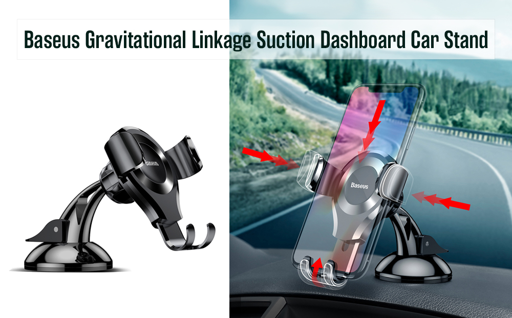 Baseus Gravitational Linkage 360 Degree Rotation Suction Dashboard Car Stand
