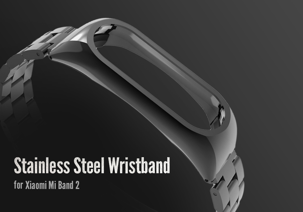 Stainless Steel Wristband for Xiaomi Mi Band 2 Light Design - Silver
